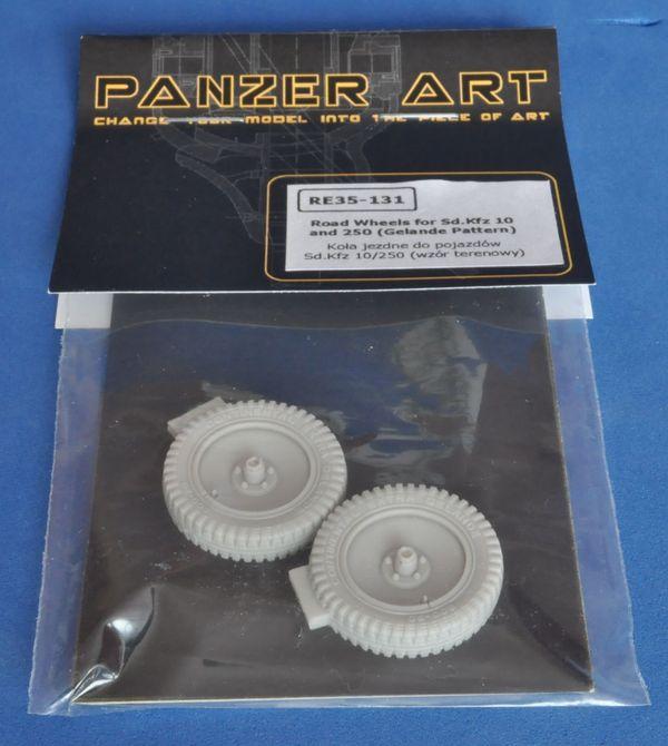 [Panzer Art] - Roues de Sdkfz 10 ou 250 et Kubelwagen avec chaines 131%2001
